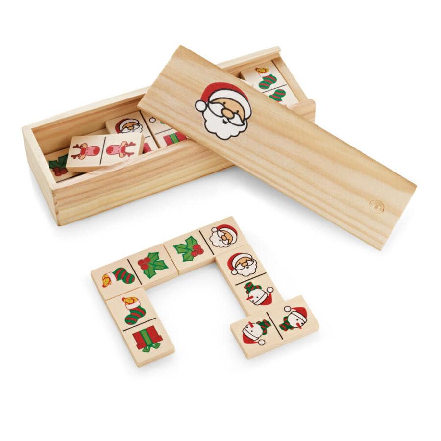 Χριστουγεννιάτικο Παιδικό Ξύλινο Ντόμινο